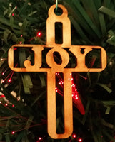 Crosses - Peace, Love, WWJD, Faith, Joy, Jesus, Hope - 7 Wood Ornaments or Decor Set