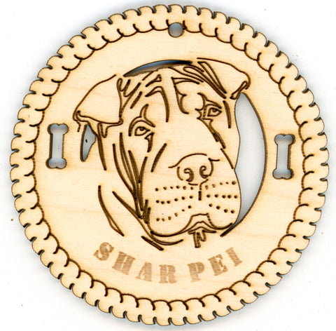 Shar Pei Dog Breed Ornaments - Set of 4