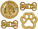 Shih Tzu Dog Breed Ornaments - Set of 4