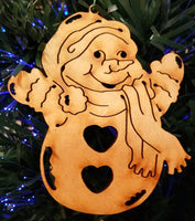 Snowman Christmas Ornaments, Set of 8 Decorations
