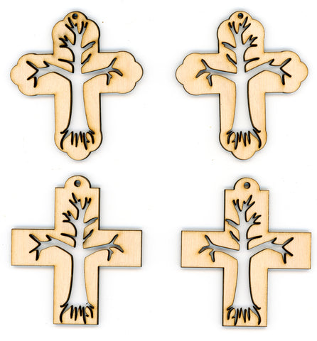 Cross Ornaments - Tree of Life in Crosses