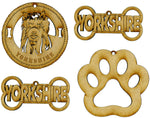 Yorkshire (Yorkie) Terrier Dog Breed Ornaments - Set of 4