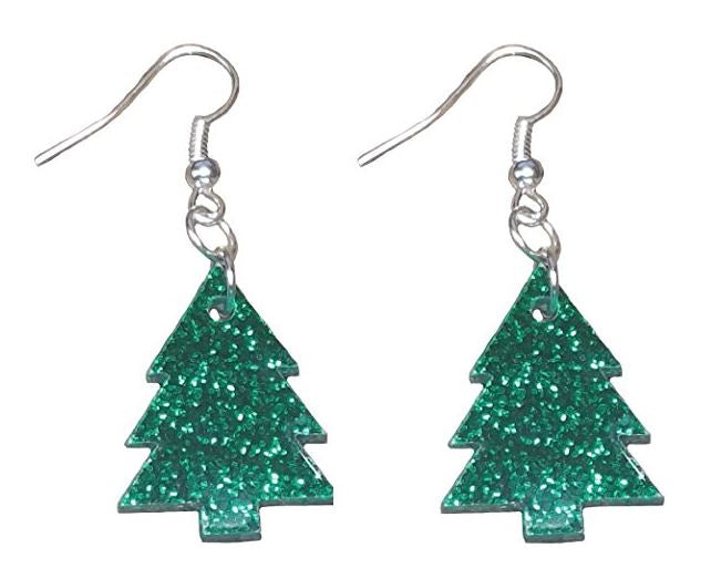 Christmas Tree Earrings - Hypoallergenic - For Adults