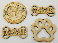 Cocker Spaniel Dog Breed Ornaments - Set of 4