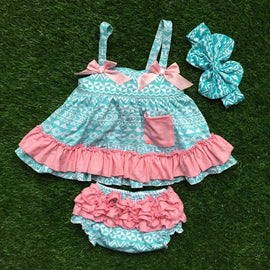 Aztec Swing Bloomer Set with Bow