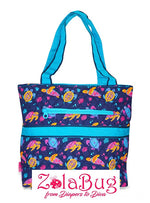 Monkey, Elephant, or Turtle Quilted Diaper Bag  (3 Piece Set)