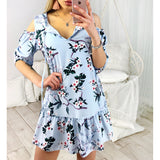 Floral Printed Cold Shoulder Ruffle Dress ~ 3 Colors!! - ZolaBug