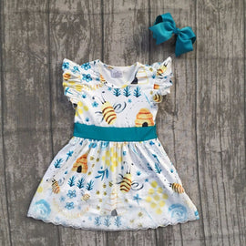 Bee Love Summer Dress with Bow