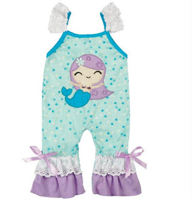 Baby Mermaid Romper or Boys Fishy Romper