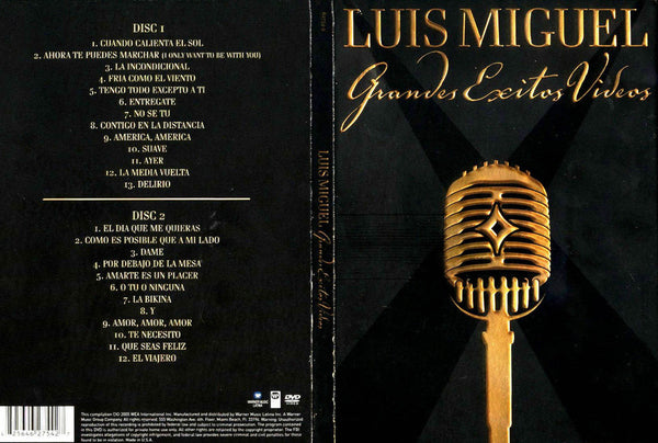 LUIS MIGUEL - GRANDES EXITOS VIDEOS