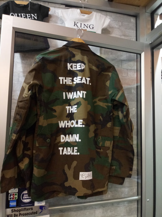 YES I AM CLOTHING | KEEP THE SEAT ARMY JACKET