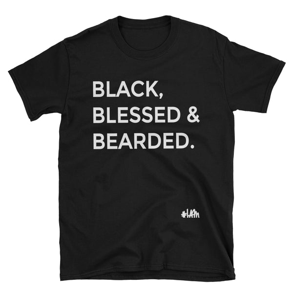 YES I AM | BLACK, BLESSED & BEARDED TEE - DA SPOT NYC