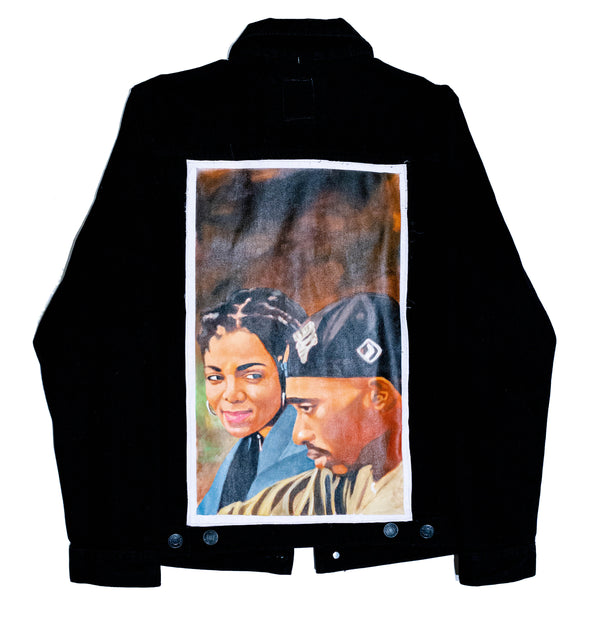 """Last Poets"" Hand Painted Denim Jacket - DA SPOT NYC"