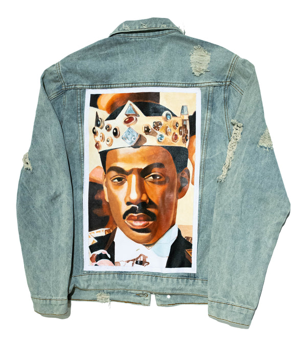 """The Prince"" Hand Painted Denim Jacket - DA SPOT NYC"