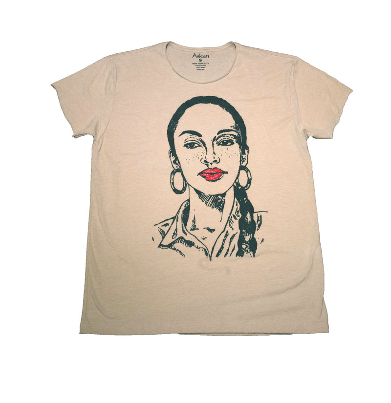 LEGEND TEE WITH HAND PAINTED LIPS - DA SPOT NYC