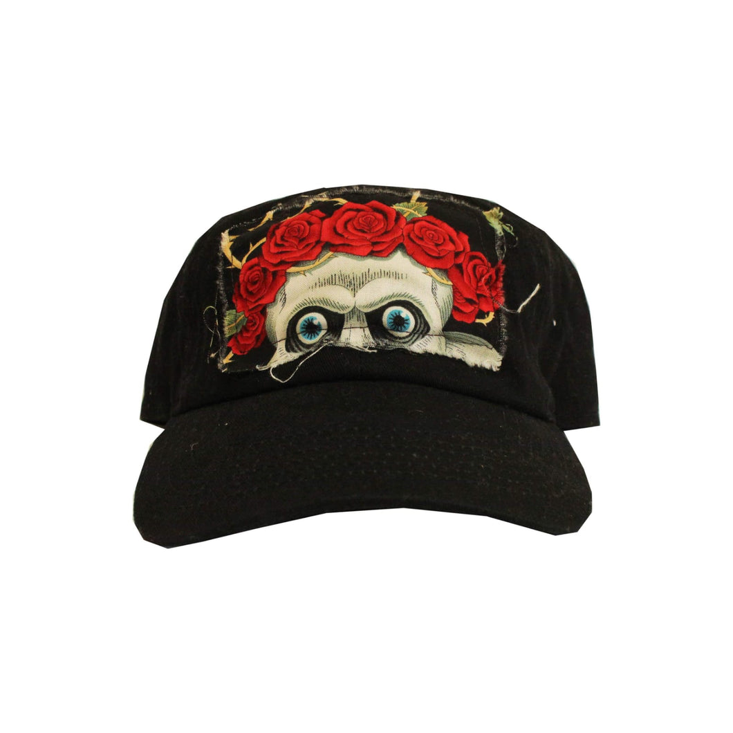 FRANTZY FACE| SKULL + ROSES  DAD HAT