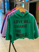 FRANTZY FACE | LOVE WILL CHANGE THE WORLD CROPPED HOODIE