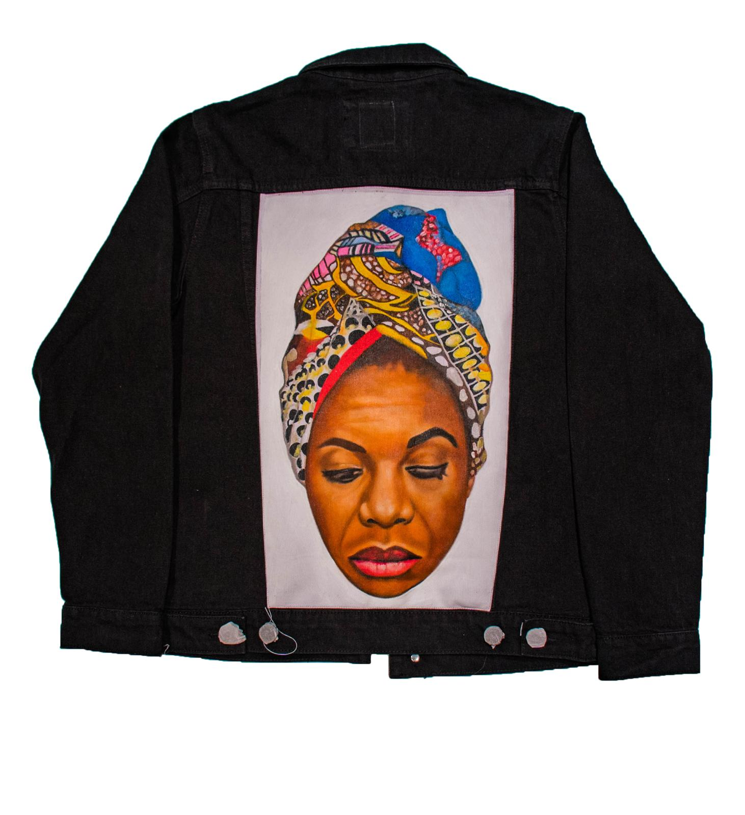 ASKAN | Miss Nina Hand Painted Denim Jacket