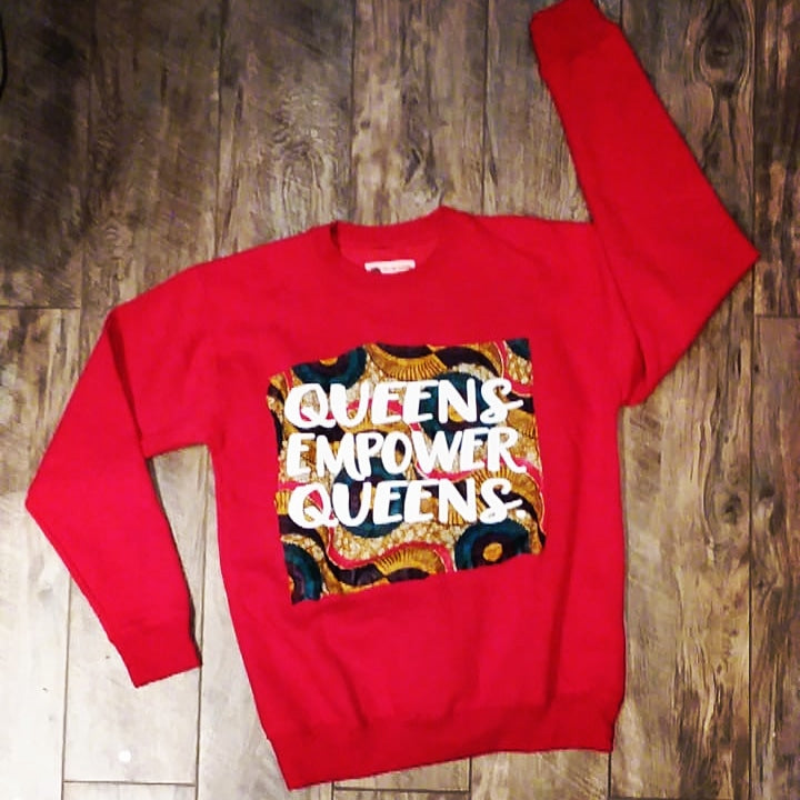 YES I AM CLOTHING | QUEENS EMPOWER QUEENS CUT AND SEW SWEATSHIRT