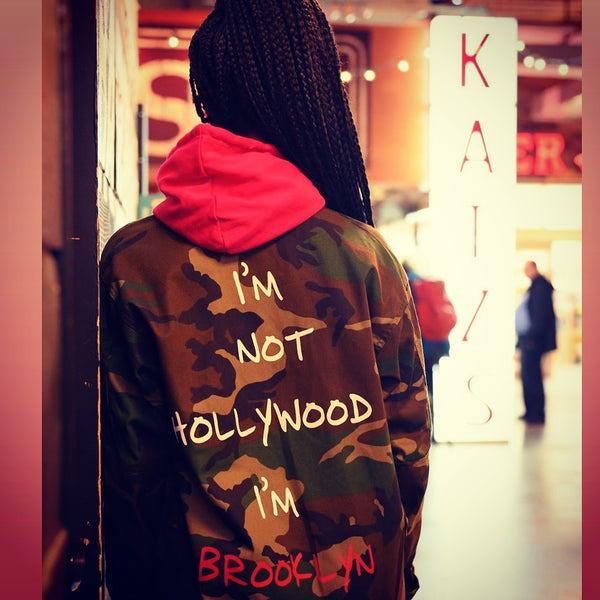 FRANTZY FACE | NOT HOLLYWOOD, BROOKLYN ARMY JACKET - DA SPOT NYC