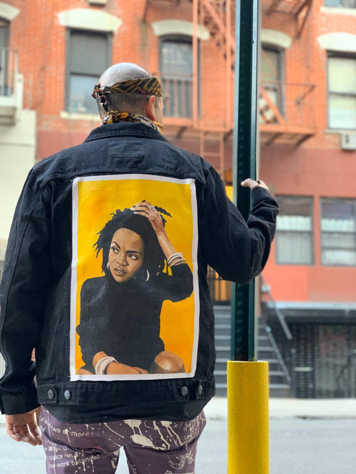 ASKAN | Miss Educated Hand Painted Denim Jacket - DA SPOT NYC