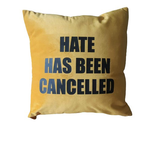 FRANTZY FACE | HATE HAS BEEN CANCELLED PILLOW - DA SPOT NYC
