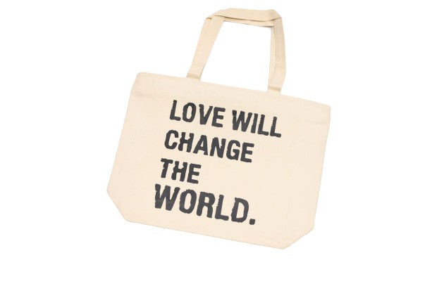 FRANTZY FACE | LOVE CHANGES OVERSIZED CANVAS BAG