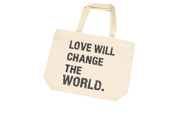 FRANTZY FACE | LOVE CHANGES OVERSIZED CANVAS BAG - DA SPOT NYC