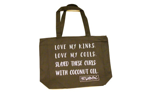 YES I AM | NATURALISTA OVERSIZED CANVAS BAG - DA SPOT NYC