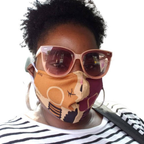 FRANTZY FACE | Signature FACE Afro Puff  Mask + Free Shipping