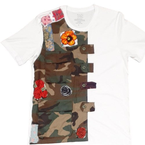 FRANTZY FACE | FLOWERS TO THE PEOPLE CUT AND SEW TEE