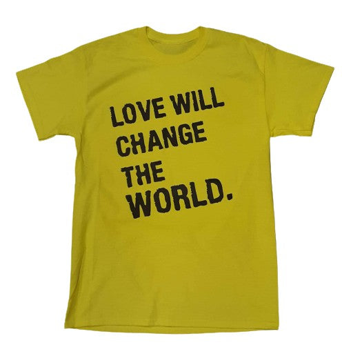 FRANTZY FACE  | LOVE WILL CHANGE THE WORLD TEE (Yellow) - DA SPOT NYC