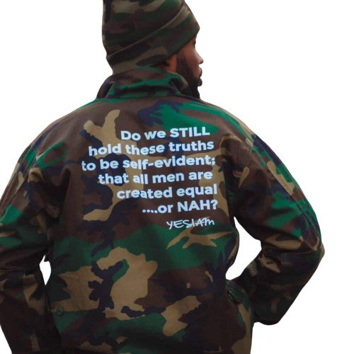 YES I AM | EQUAL OR NAH ARMY JACKET - DA SPOT NYC