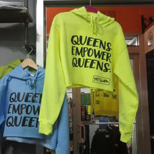 YES I AM | QUEENS EMPOWER QUEENS CROPPED HOODIES