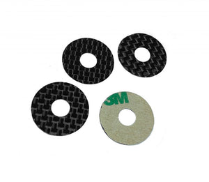 Carbon Fiber Body Washers Adhesive Backed 5mm Post (4)