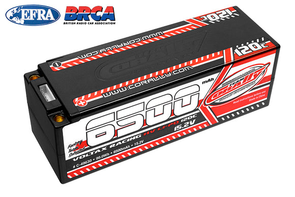 6500mAh 15.2v 4S 120C Voltax Hardcase Lipo Battery - 5mm