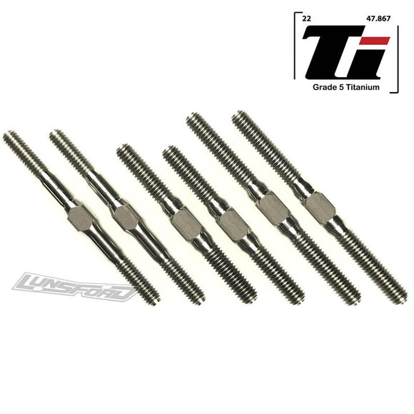 4mm/5mm Titanium Turnbuckle Kit for TLR 8ight-X / 8ight-XE