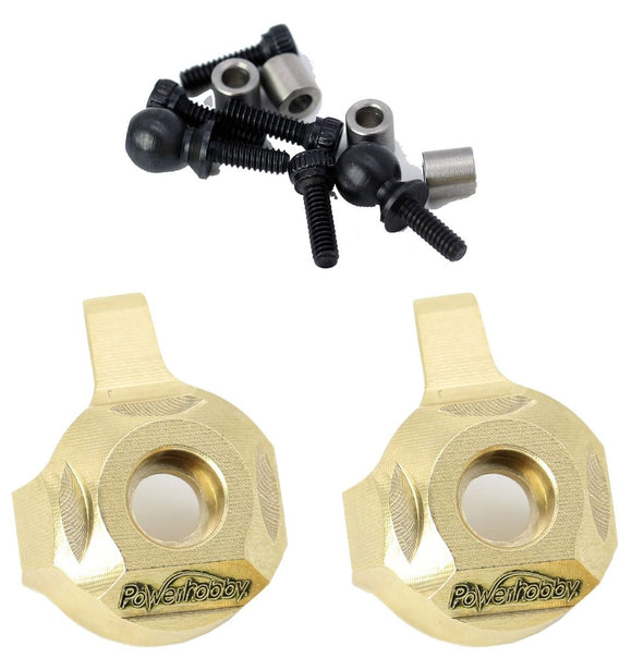 Brass Front Steering Knuckle Axial SCX24