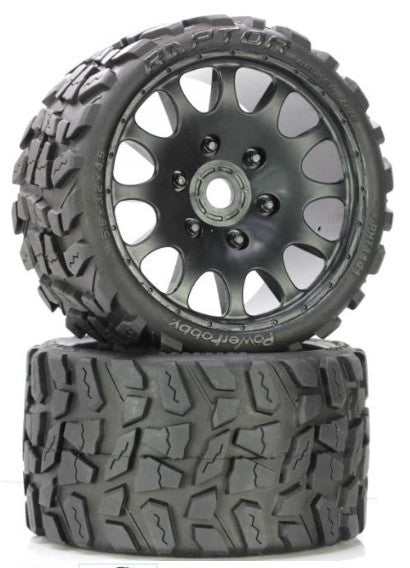 Raptor Belted Monster Truck Wheel / Tires (pr.) Sport
