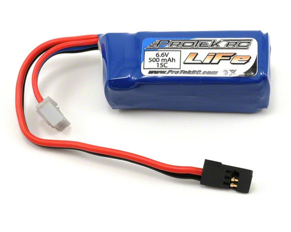 6.6V 500mAh 15C LiFe Stick Battery Pack