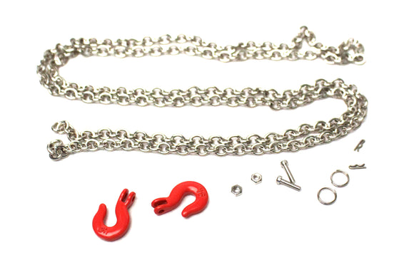 1/10 Scaler Tow Hooks and Chain Set