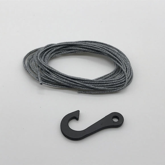 Synthetic Winch Line w/ Steel Hook