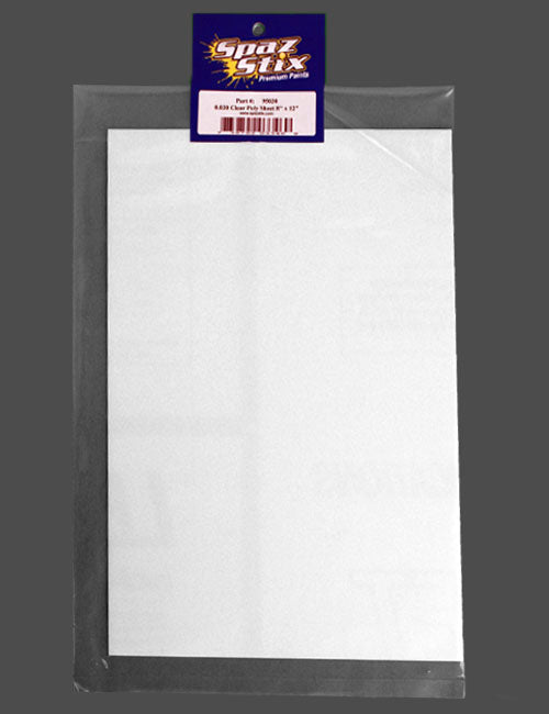 0.030 CLEAR POLY SHEET 8X12