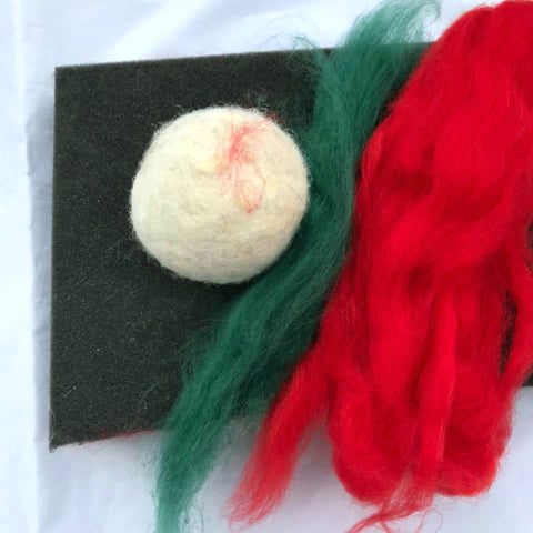 Online Class - Needle-felting: Learn needle-felting basics while making your own Timmy Tomato  - Sept 17 and 20,  2-4:00  CLASS IS CLOSED