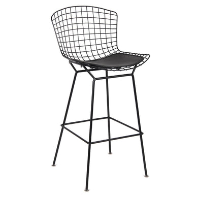 Black Wire Counter Chair, Black