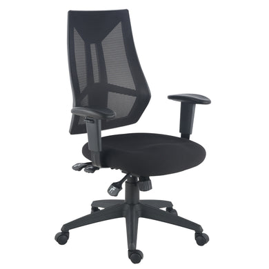 Benicia Office Chair in Soft-Touch Fabric, Black