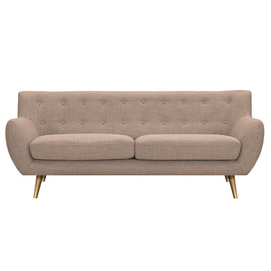 Light Sand Anke Sofa - Brass