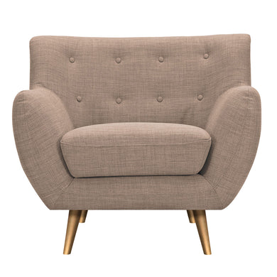 Light Sand Anke Armchair- Brass