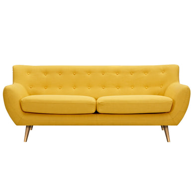 Papaya Yellow Anke Sofa - Brass