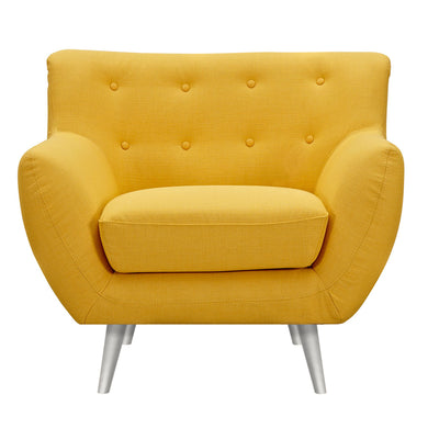 Papaya Yellow Anke Armchair- Silver